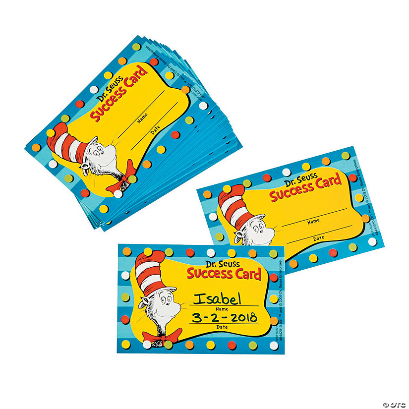 Dr. Seuss Cat in the Hat™ Motivational Punch Cards Image Thumbnail