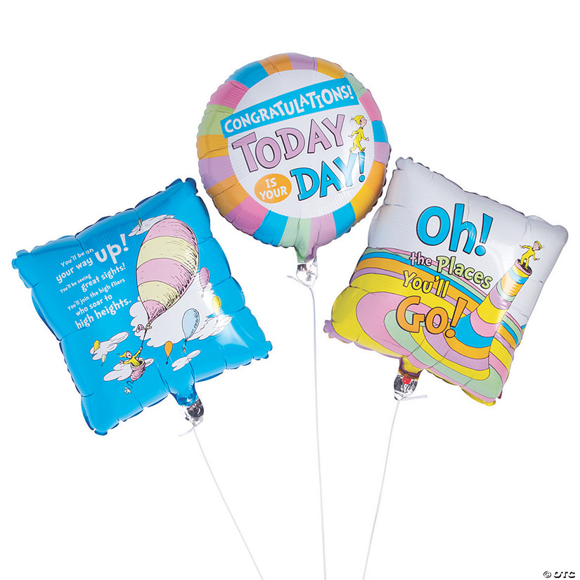 "Dr. Seuss™ Oh, the Places You'll Go 18"" Mylar Balloon Set Audio Thumbnail"