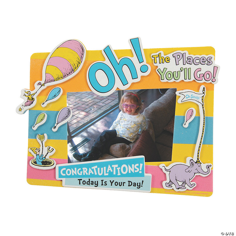 Dr. Seuss™ Oh, the Places You'll Go Picture Frame Magnet Craft Kit Audio Thumbnail