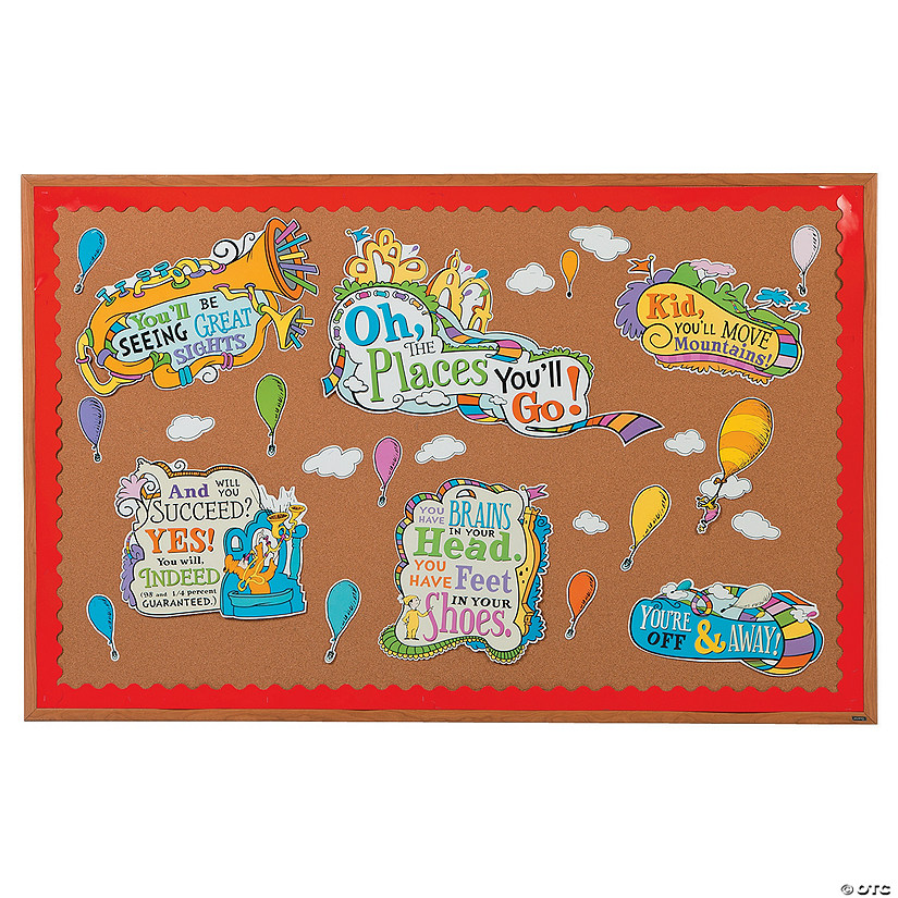 Dr. Seuss™ Oh, the Places You'll Go Bulletin Board Set Audio Thumbnail