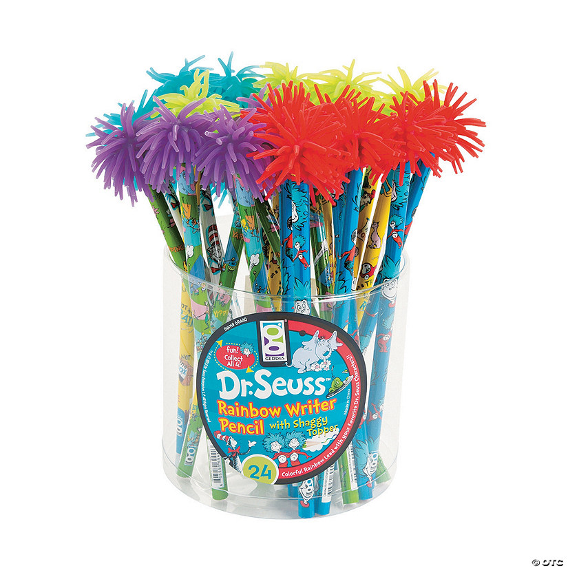 Dr. Seuss™ Rainbow Writer Pencils with Shaggy Top - 24 Pc. Audio Thumbnail