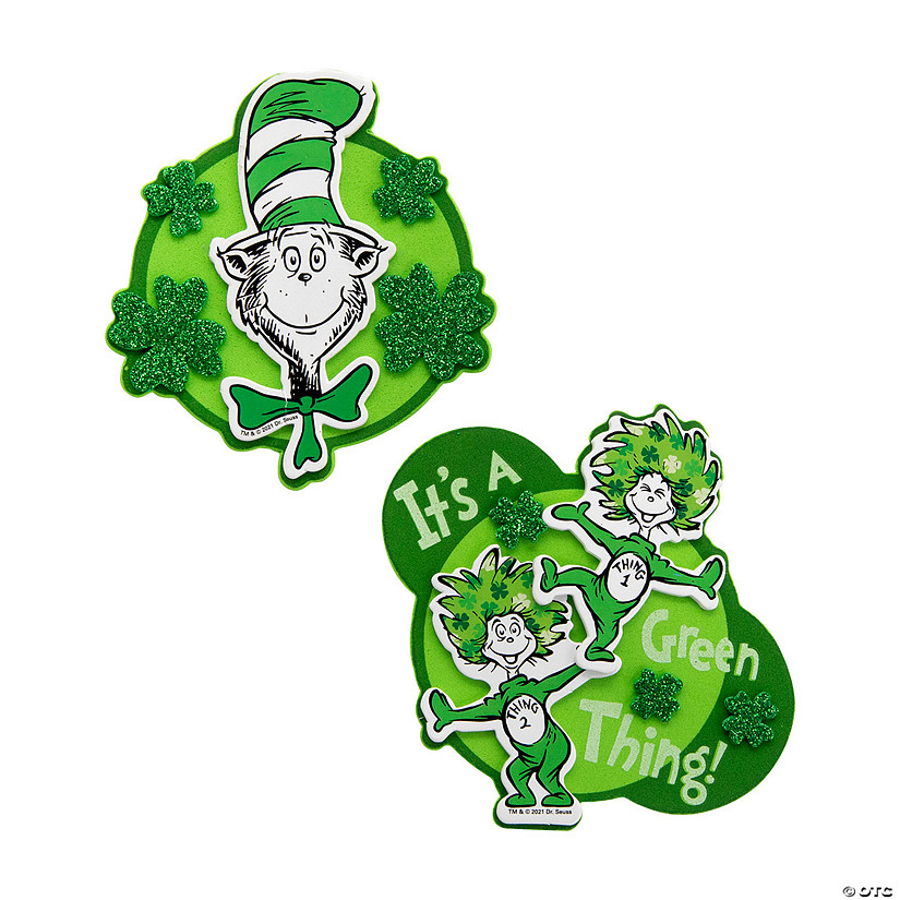 Dr. Seuss™ St. Patrick's Day Magnet Craft Kit Image Thumbnail