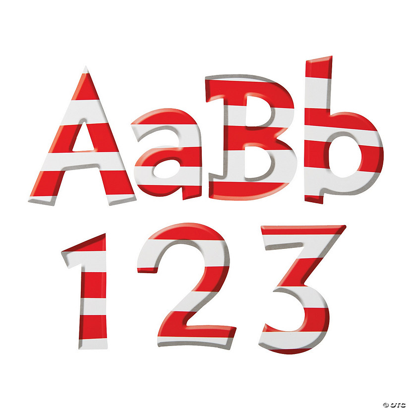 Dr. Seuss™ Striped Bulletin Board Letters & Numbers Audio Thumbnail