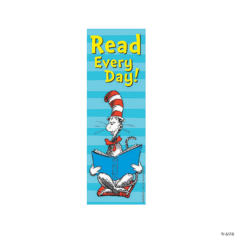 Dr. Seuss™ The Cat In The Hat™ Read Every Day Bookmarks Image Thumbnail