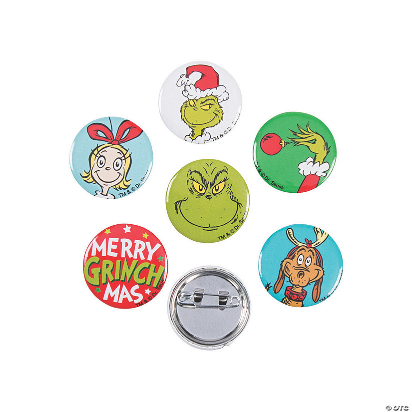 Dr. Seuss™ The Grinch Mini Buttons Image Thumbnail