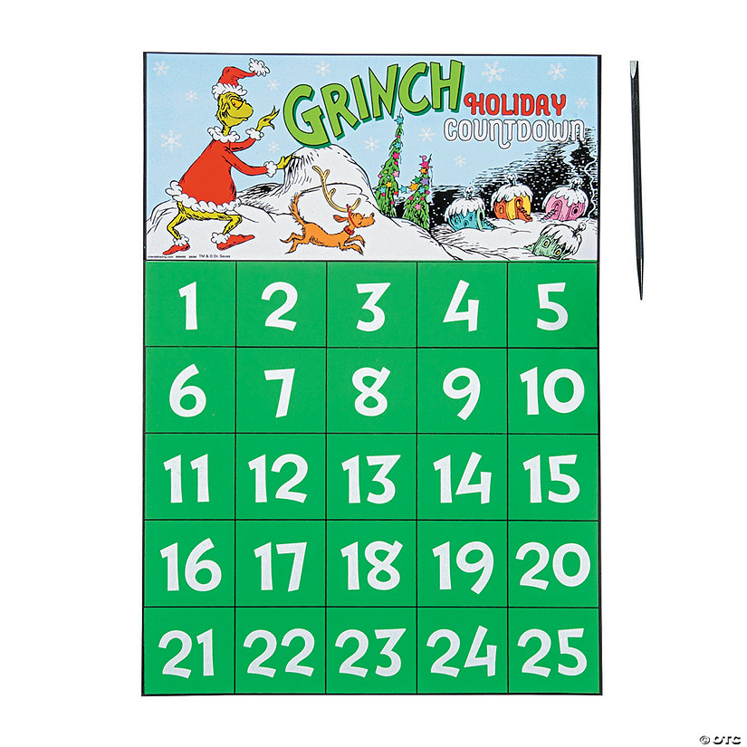 Dr. Seuss™ The Grinch Scratch 'N Reveal Advent Calendars Image Thumbnail