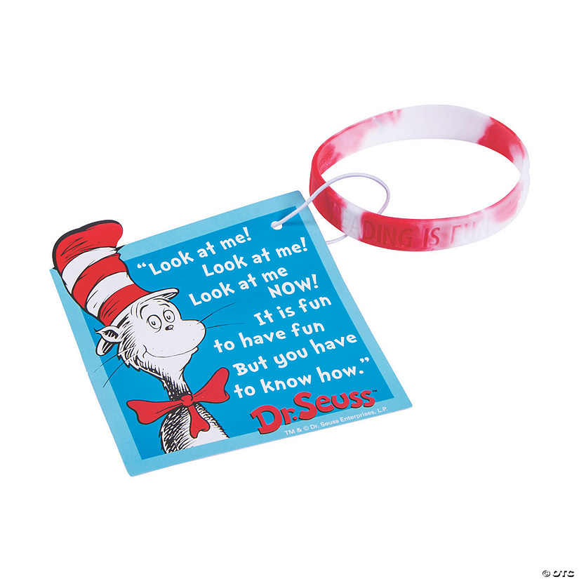 Dr. Seuss™ Welcome to Class Reading Bracelets with Card Audio Thumbnail