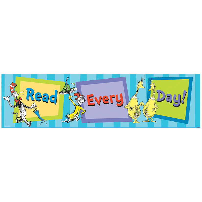 Dr. Seuss™ Cat in the Hat™ Read Every Day Cardboard Banner Audio Thumbnail