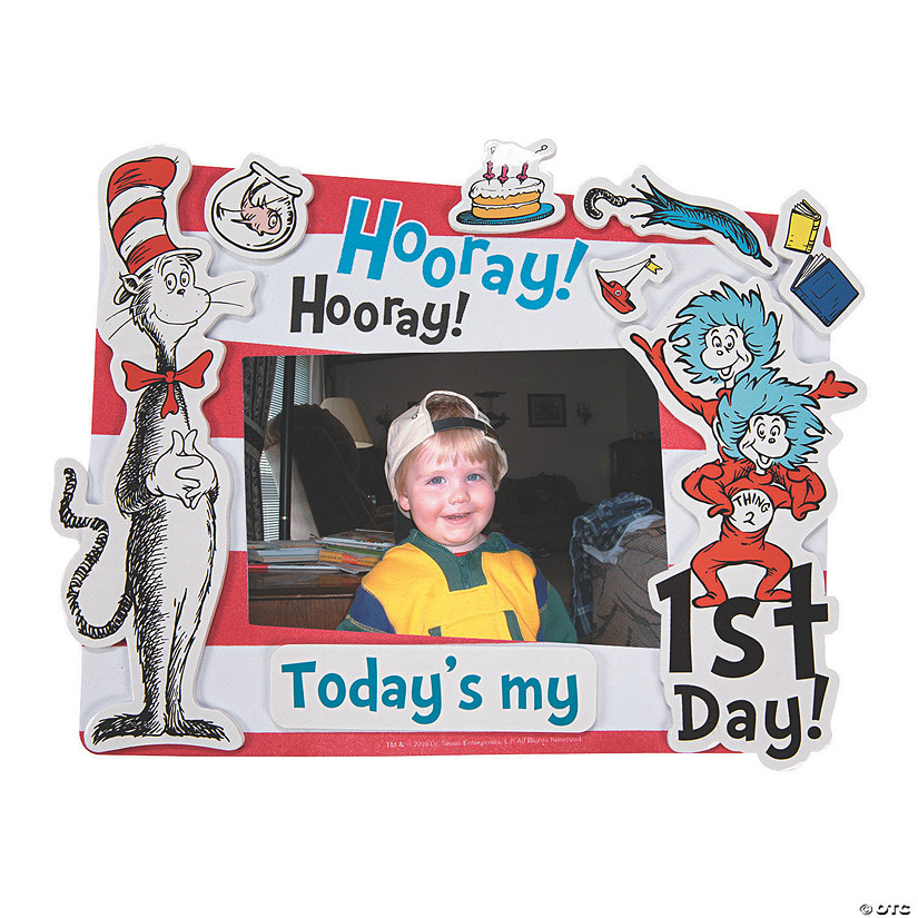 Dr. Seuss™ First Day of School Picture Frame Magnet Craft Kit Audio Thumbnail