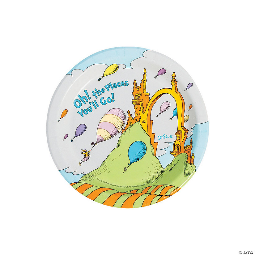 Dr. Seuss™ Oh the Places Paper Dessert Plates Audio Thumbnail