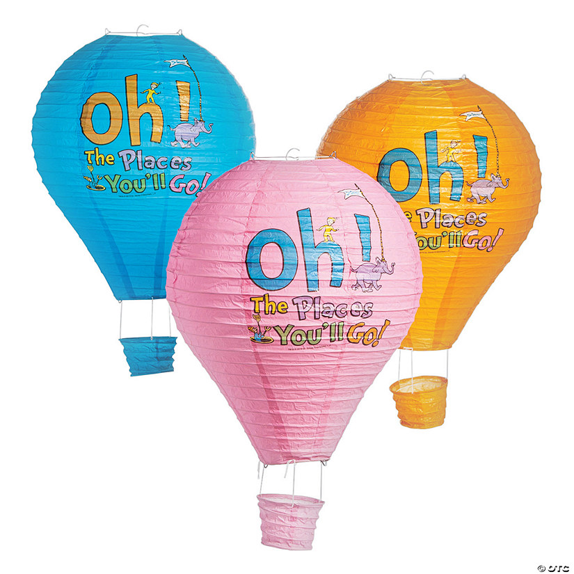 Dr Seuss™ Oh, the Places You'll Go Hot Air Balloon Hanging Lanterns Audio Thumbnail
