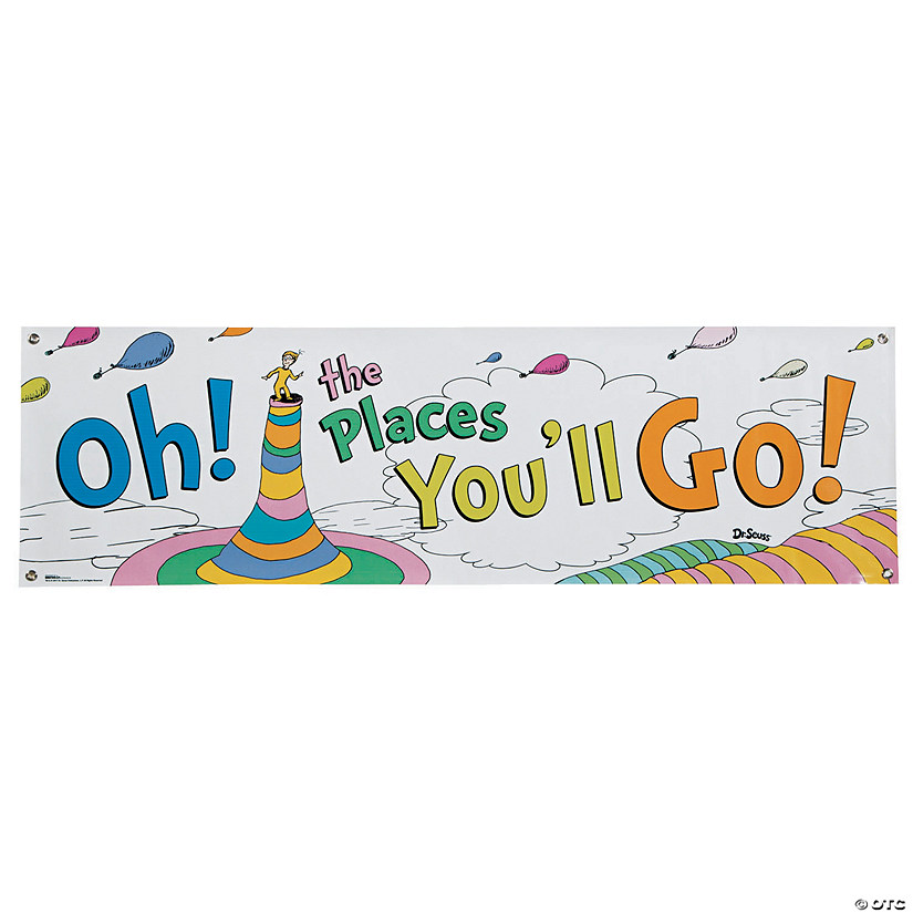 dr seuss oh the places you ll go vinyl banner