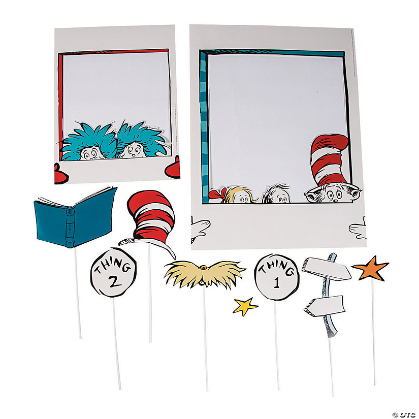 Dr Seuss Cat In The Hat Selfie Frame Photo Booth Prop Poster