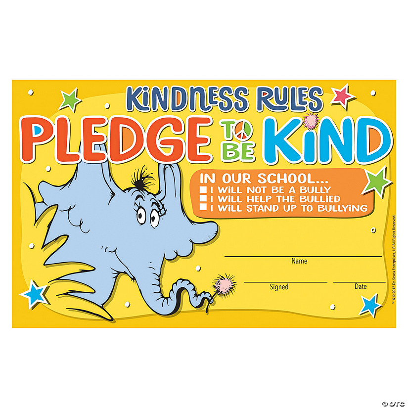 Dr. Seuss<sup>™</sup> Horton Hears a Who<sup>™</sup> Kindness Pledge Certificates