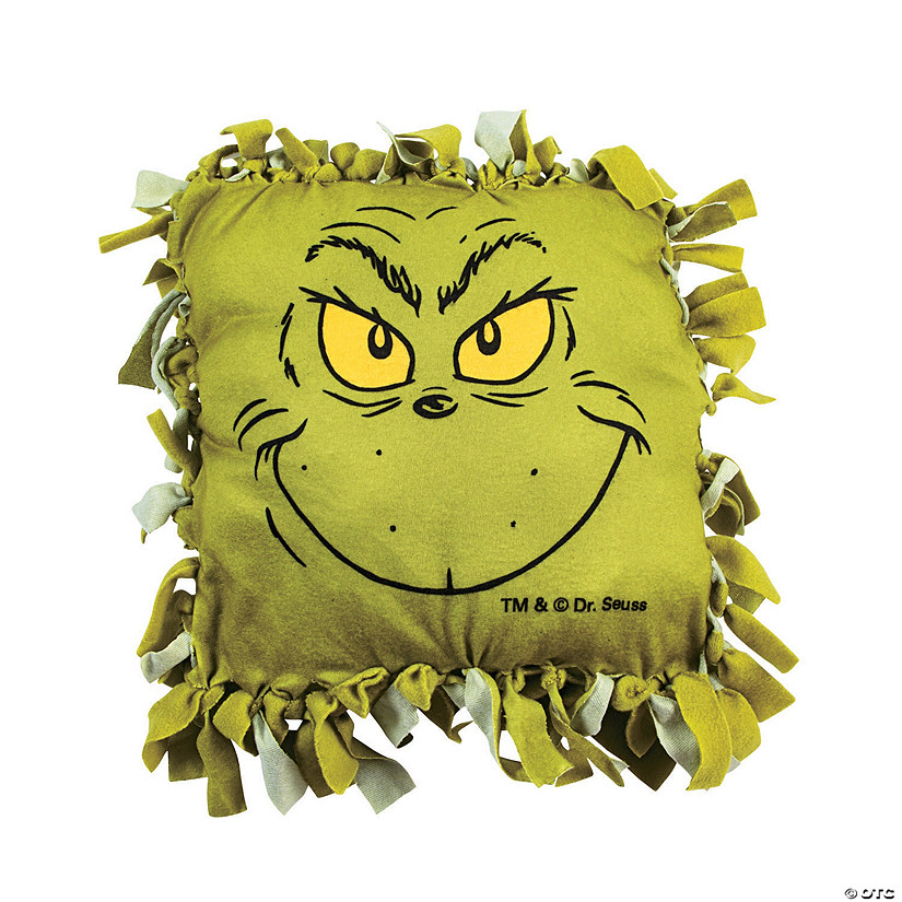 Dr. Seuss™ The Grinch Christmas Fleece Tied Pillow Craft Kit Audio Thumbnail