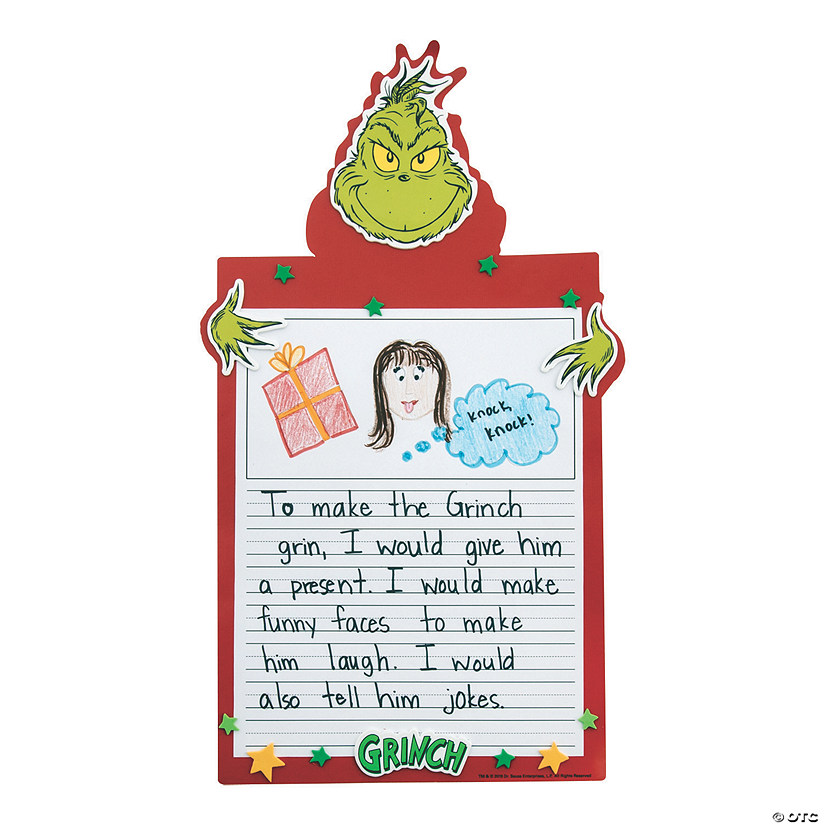 Dr. Seuss™ The Grinch Writing Prompt Craft Kit Audio Thumbnail