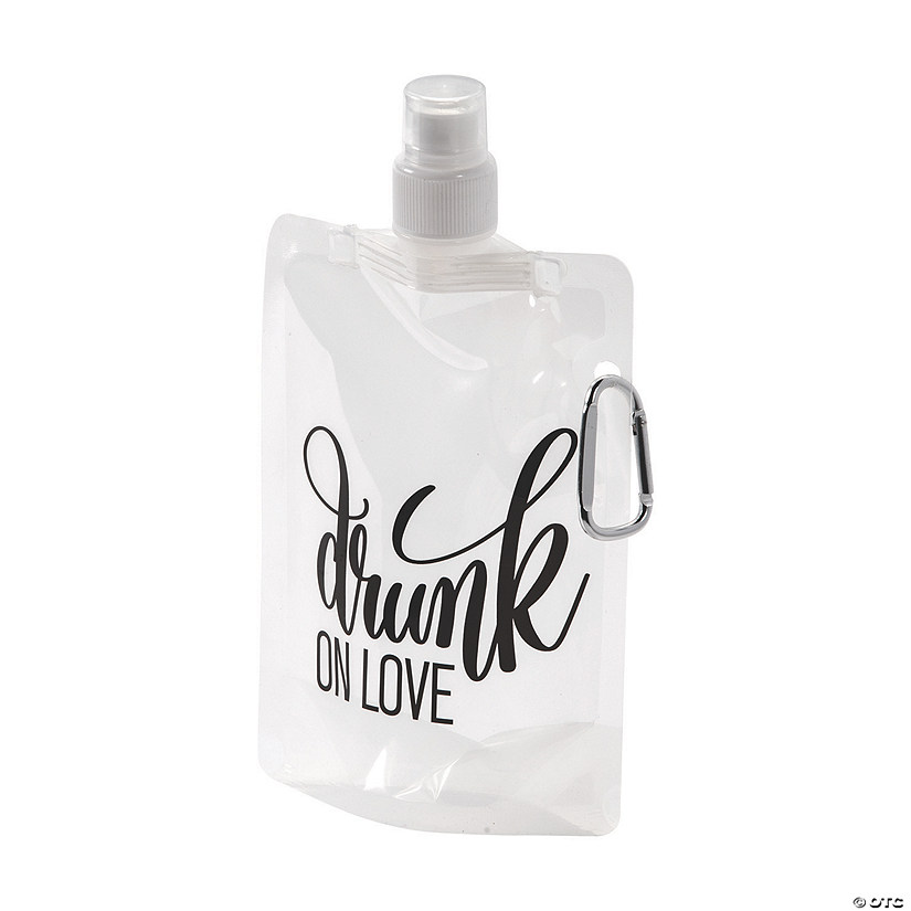 Drunk on Love Collapsible Water Bottles Image Thumbnail