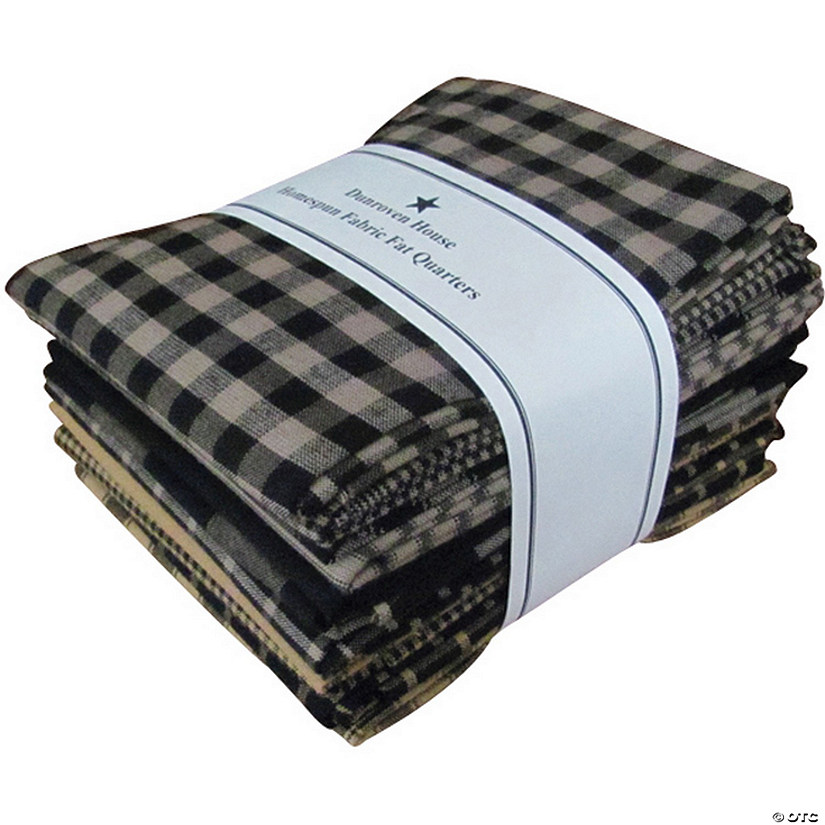 "Dunroven House Fat Quarter Bundles-18""x21"" Black - 12 pieces"