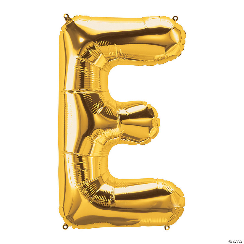 E Gold Letter Mylar Balloon Audio Thumbnail