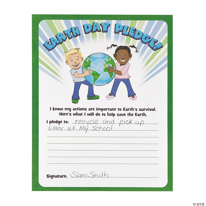Earth Day Pledge Certificates Audio Thumbnail
