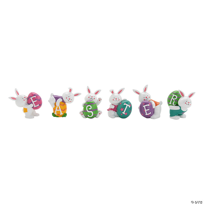 Easter Bunnies Tabletop Decoration Image Thumbnail
