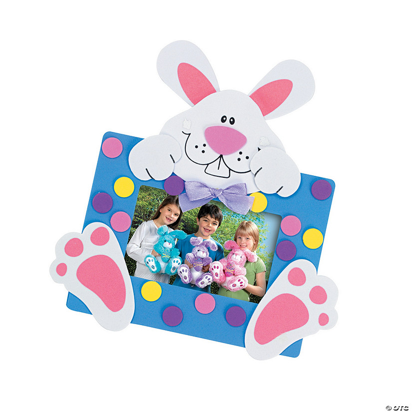 Easter Bunny Picture Frame Magnet Craft Kit Audio Thumbnail