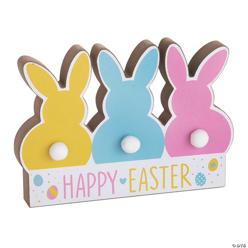 Easter Bunny Tail Tabletop Sign Image Thumbnail