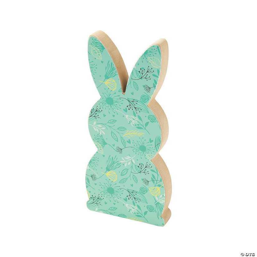 Easter Bunny with Pom-Pom Tail Tabletop Decoration Image Thumbnail