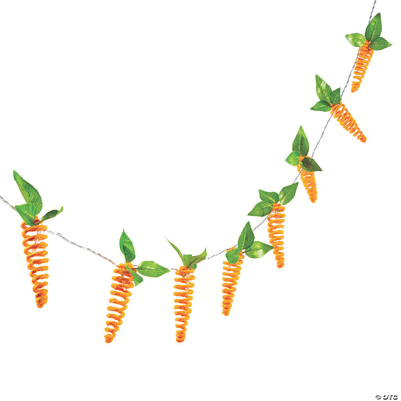 Easter Carrot String Lights Image Thumbnail