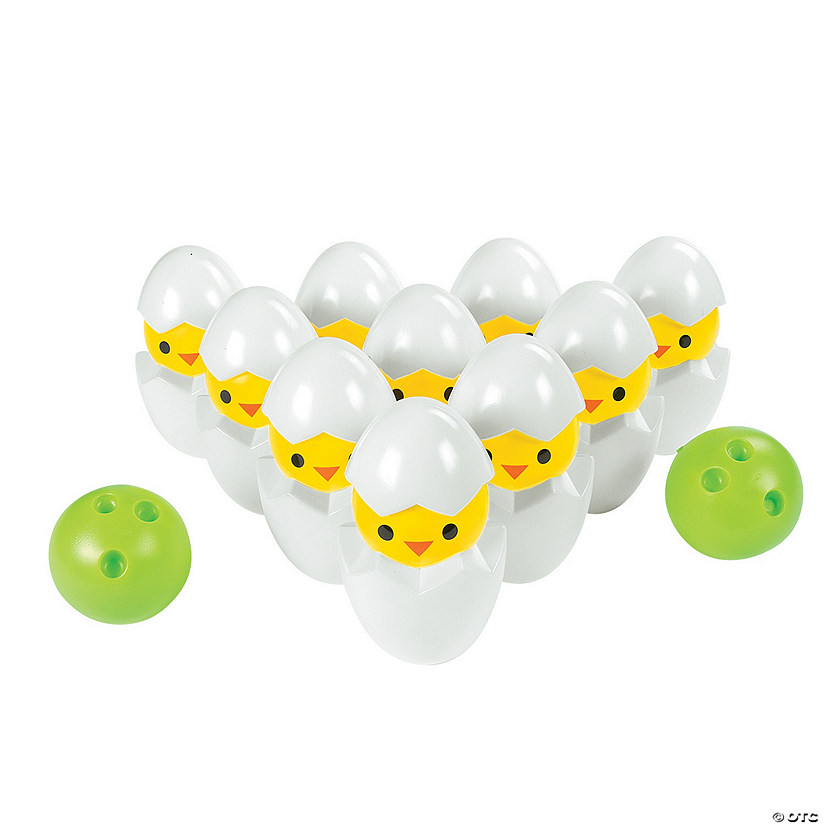 Easter Chick Bowling Game