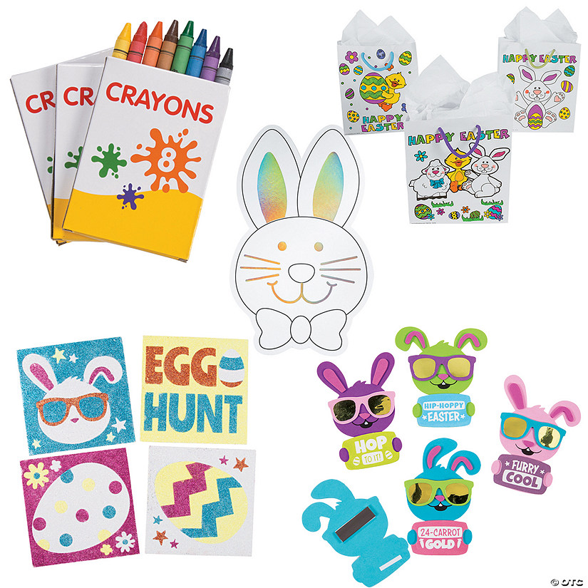 Easter Crafts Goody Bag Kit for 12 Image Thumbnail