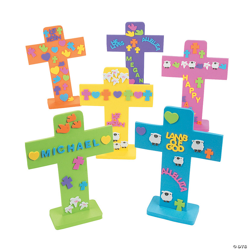 Easter Crosses with Stickers Bible Craft Kit Audio Thumbnail
