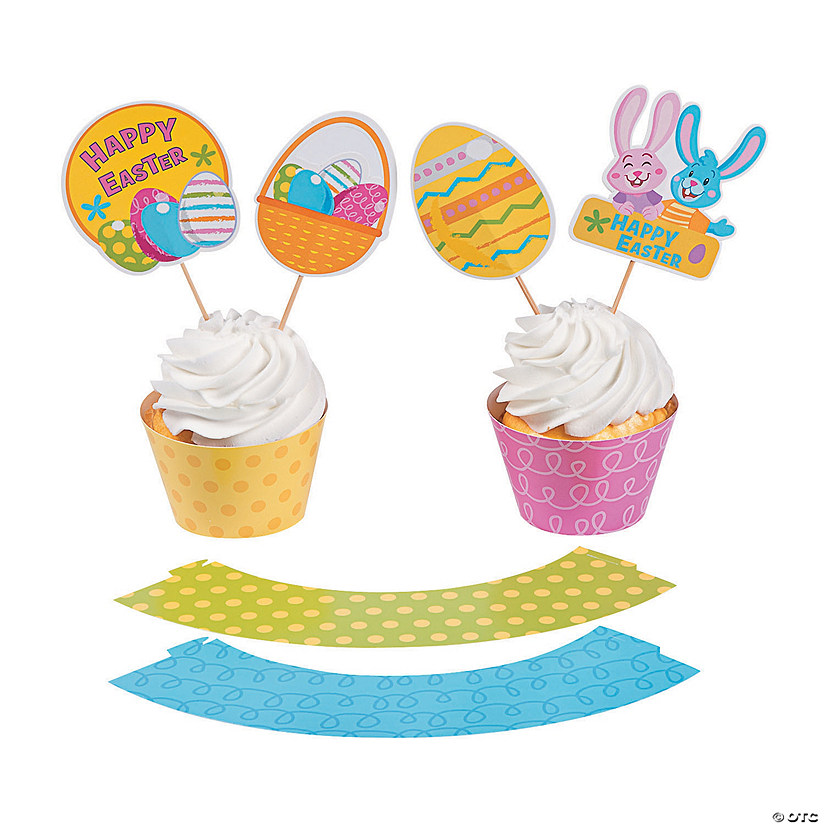 Easter Cupcake Wrappers with Picks