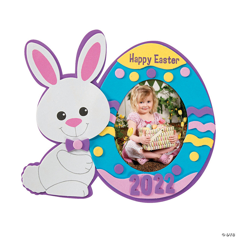 Easter Dated Picture Frame Magnet Craft Kit Image Thumbnail