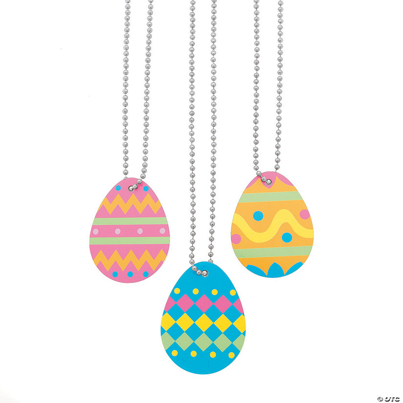 Easter Egg Dog Tag Necklaces