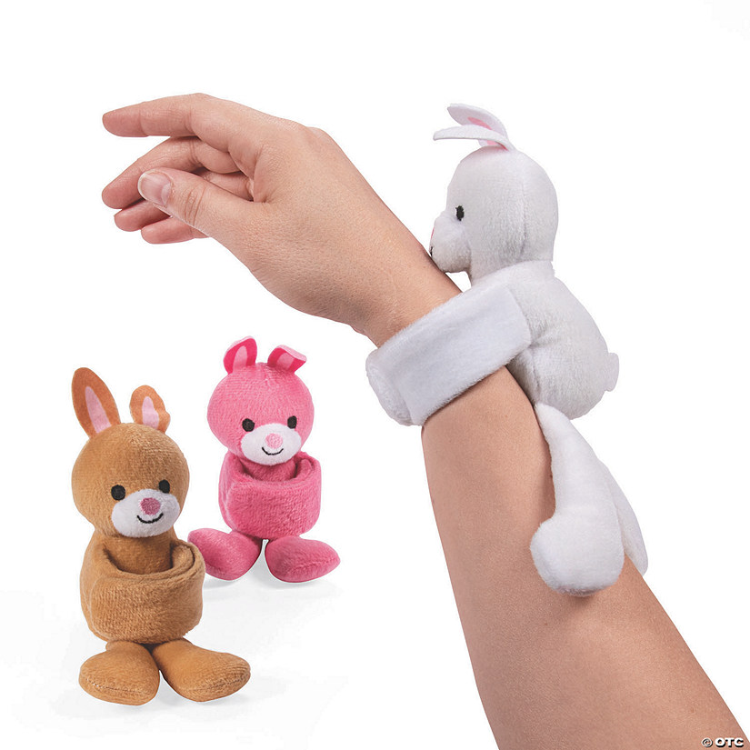 Easter Hugging Stuffed Bunny Slap Bracelets Image Thumbnail