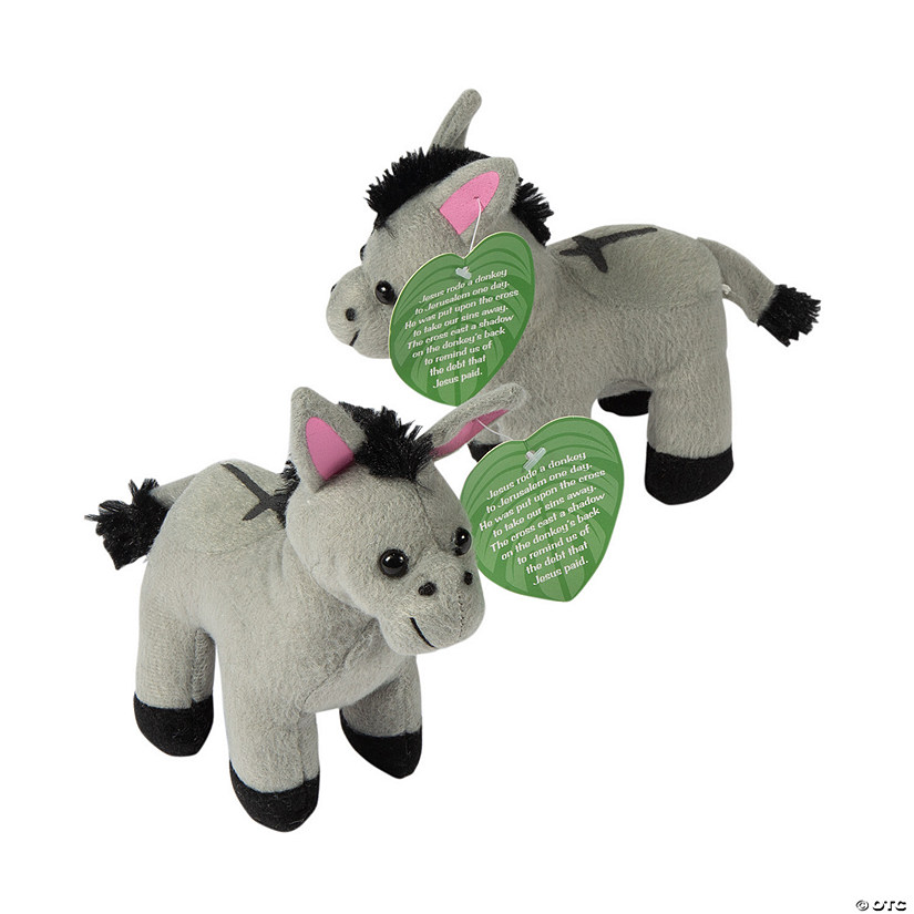 Easter Legend Stuffed Donkeys with Card Image Thumbnail