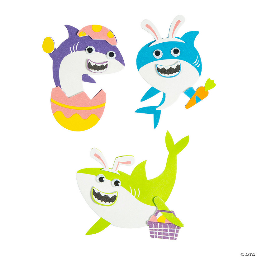 Easter Shark Magnet Craft Kit Image Thumbnail