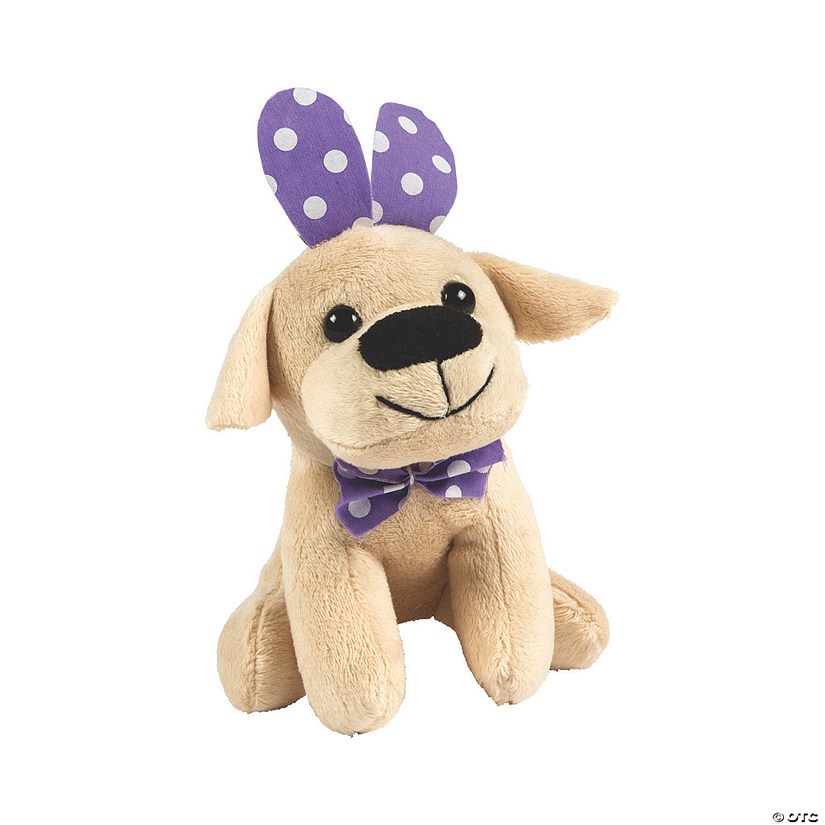 Easter Stuffed Dogs with Bunny Ears Image Thumbnail