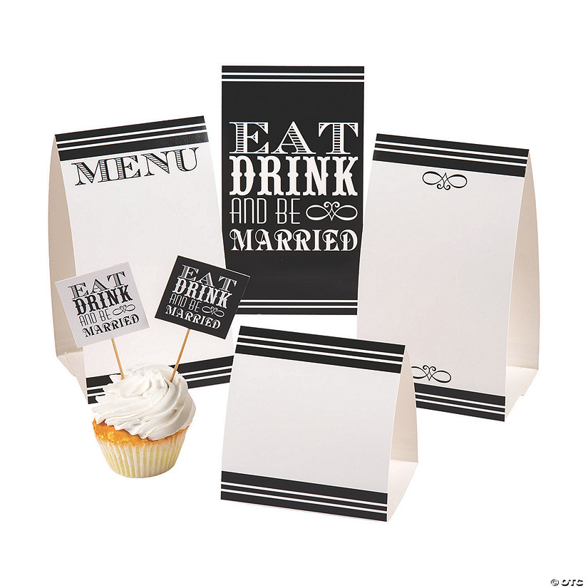 Eat, Drink & Be Married Buffet Décor Kit