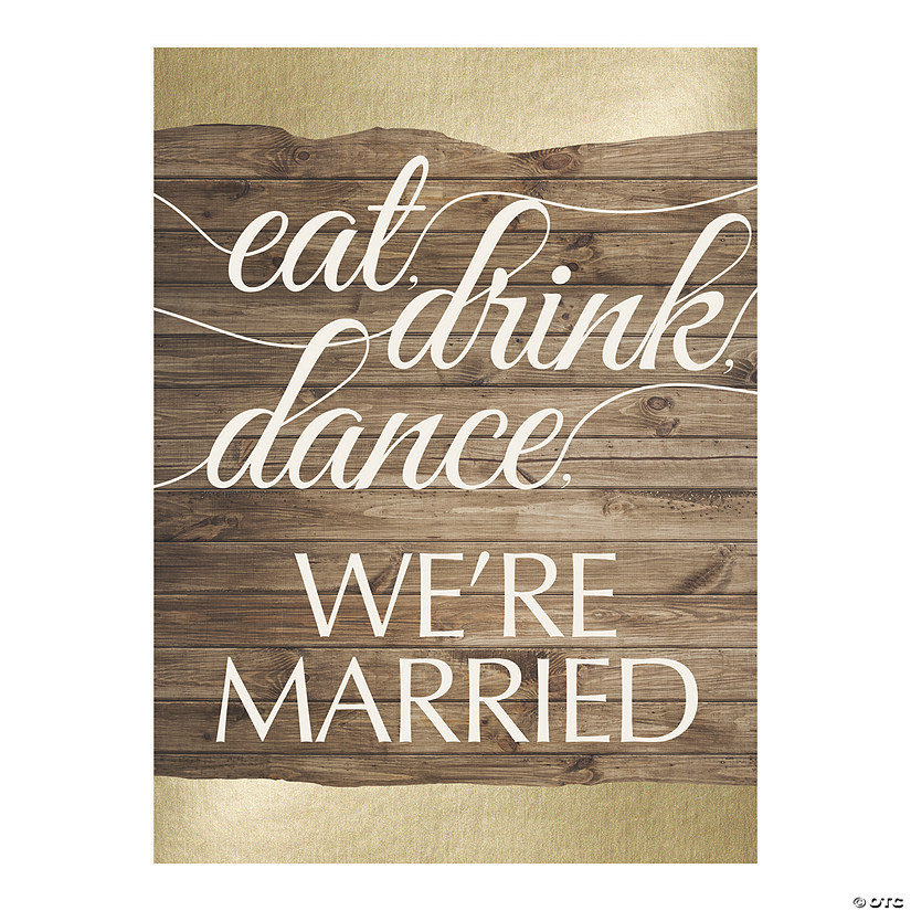 Eat, Drink, Dance, We're Married Sign Audio Thumbnail