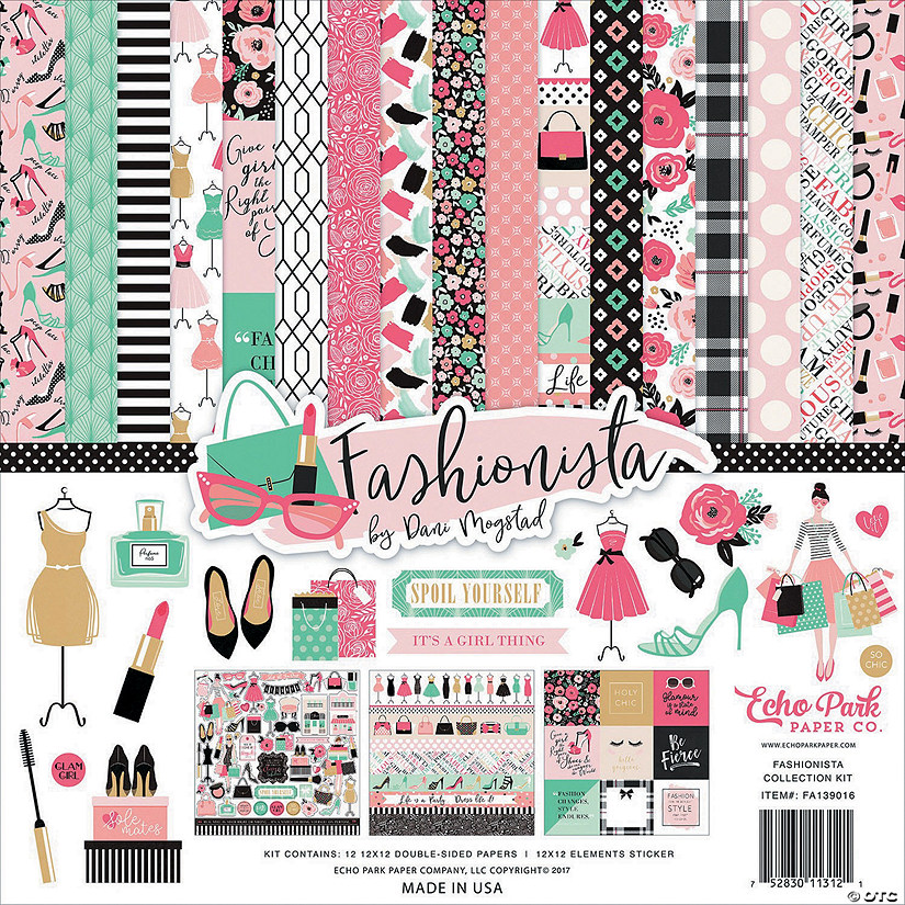 "Echo Park Collection Kit 12""X12""-Fashionista"