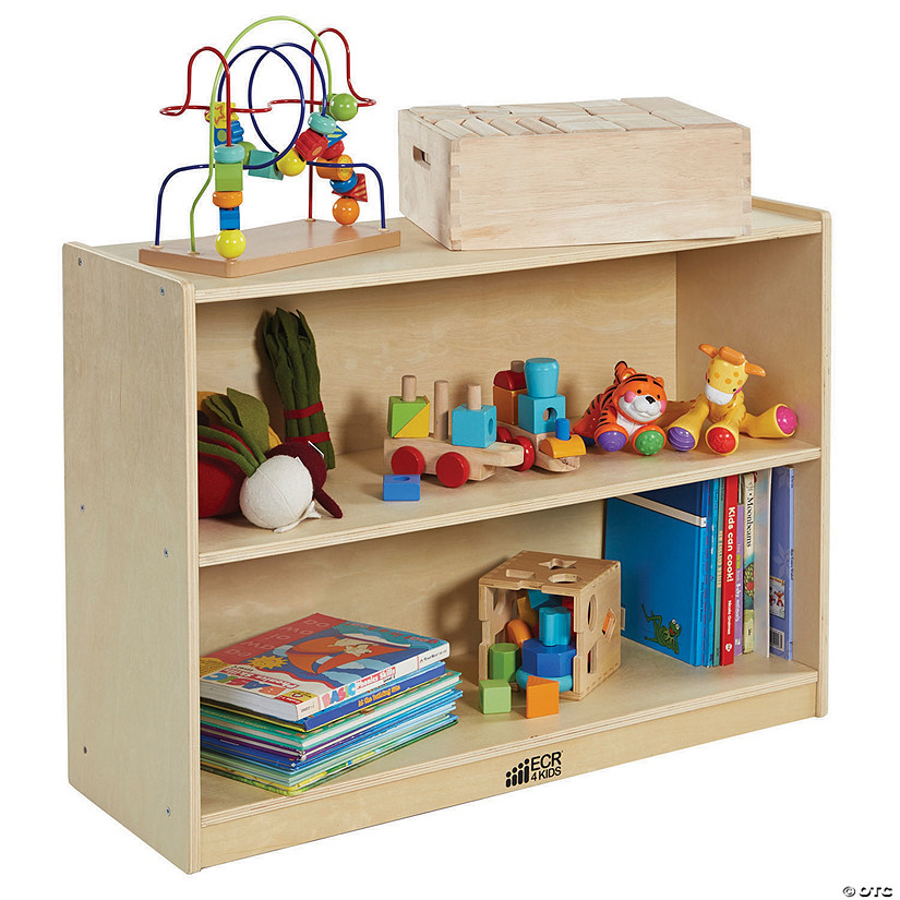 ECR4Kids Birch 2 Shelf Storage Cabinet with Back Image Thumbnail