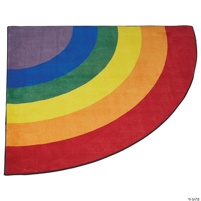 ECR4Kids Gather Round Rainbow Corner Carpet for Children, Assorted Colors Audio Thumbnail