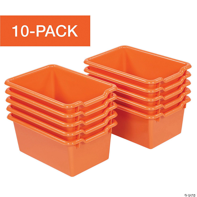 ECR4Kids Scoop-Front Storage Bins, 10-Pack, Orange Audio Thumbnail