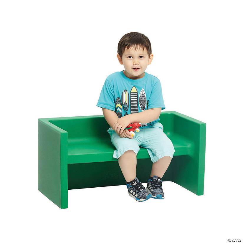 ECR4Kids Tri-Me 3-in-1 Cube Bench - Green Audio Thumbnail