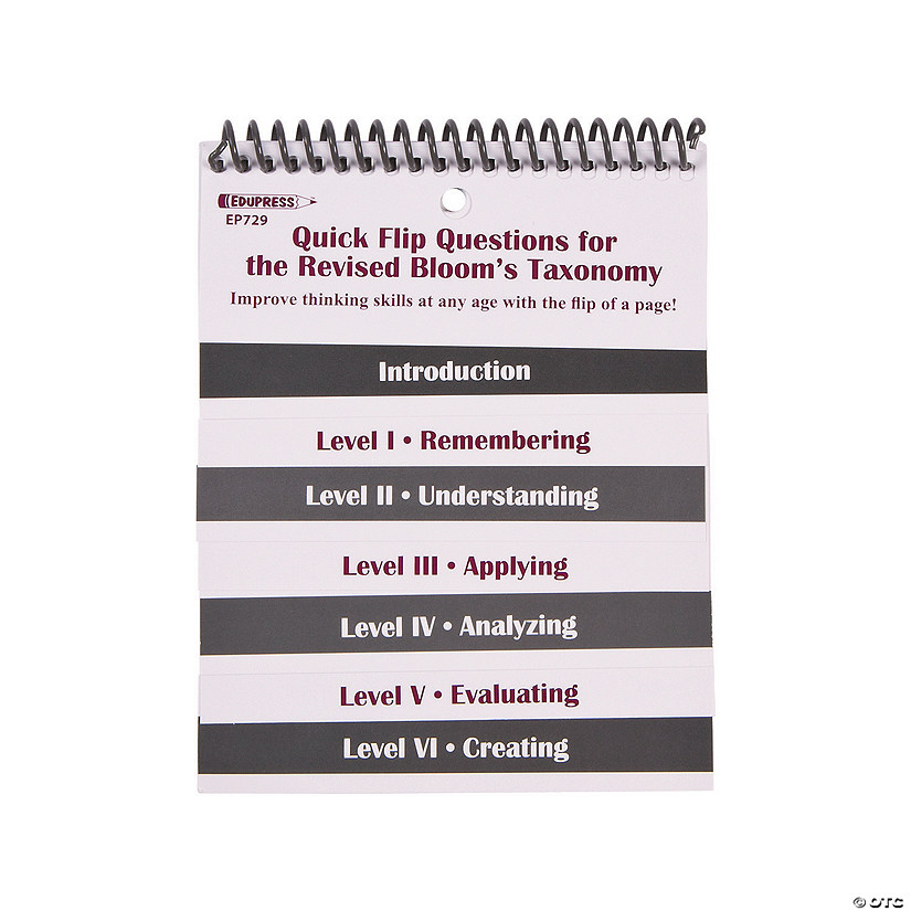 Edupress® Quick Flip Questions for the Revised Bloom's Taxonomy