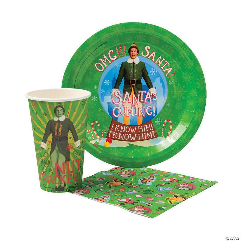 Elf™ Buddy Elf Tableware Kit for 20 Guests Image Thumbnail