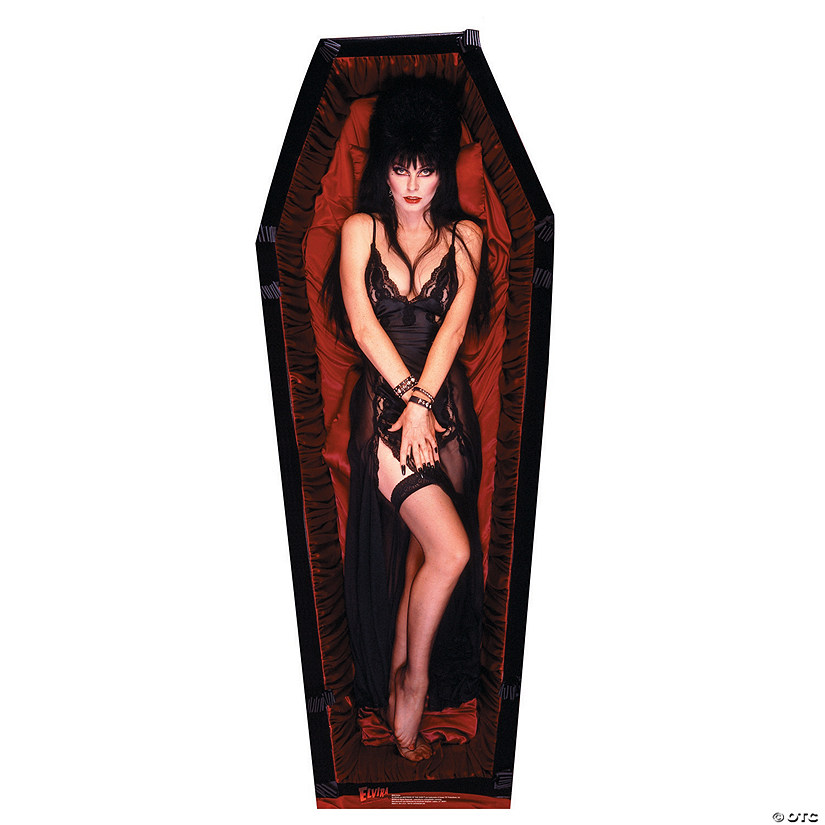 Elvira Coffin Cardboard Stand-Up