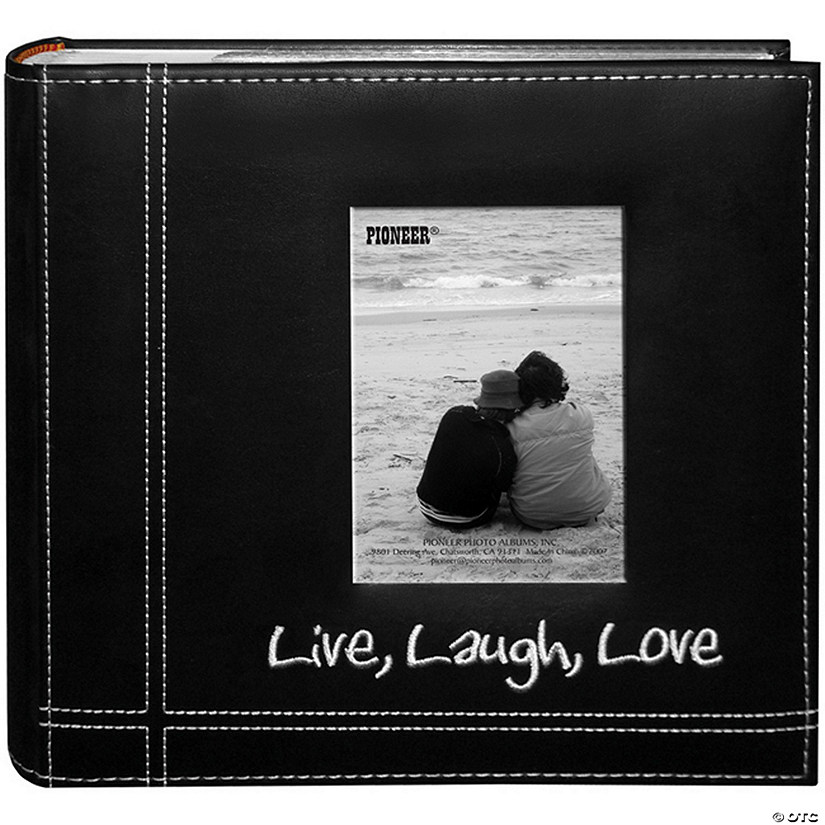 Embroidered Stitched Leatherette Album